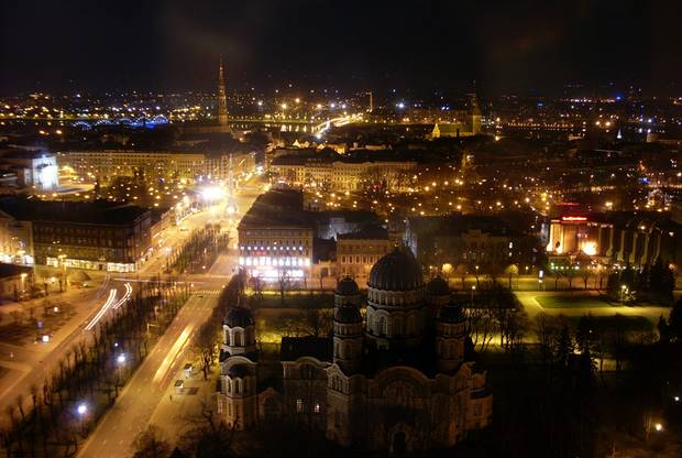 Ночная панорама Риги