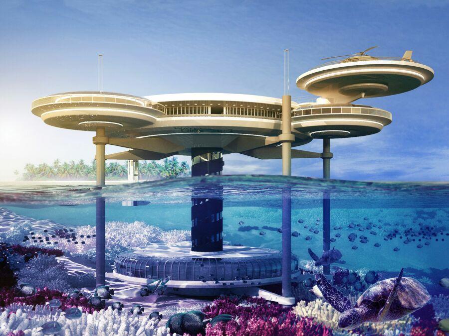 Три самых нереальных подводных отеля