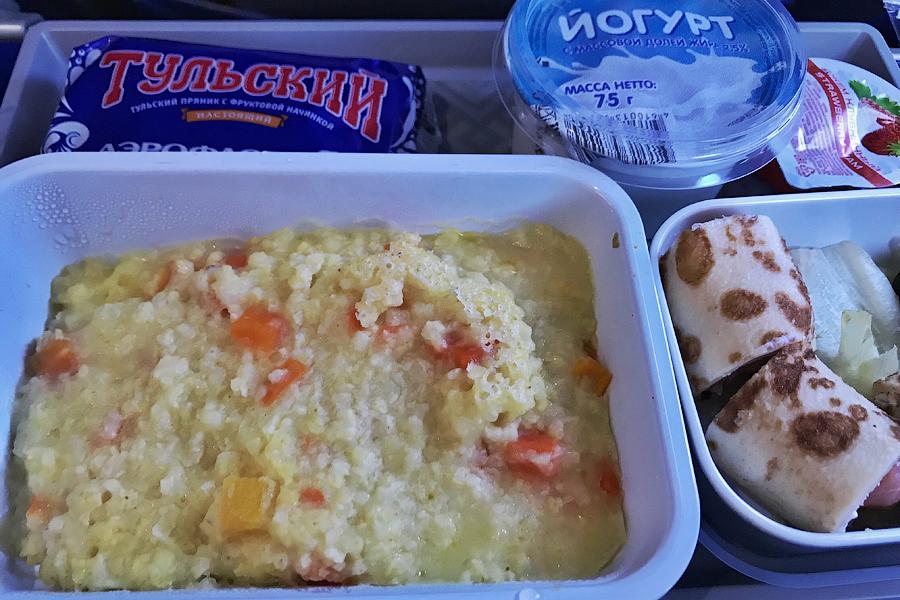 Аэрофлот. Еда специально для русских на рейсе в Италию более, дополнение, варианте, русское, предыдущем, вполне, утренний, завтраков, попалось, случае, данном, возможно, русским, питательным, интересным, завтрака, предыдущее, шницель, куриный, подливы