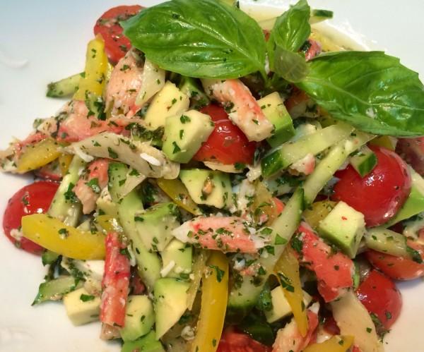 Рецепт салата с камчатским крабом