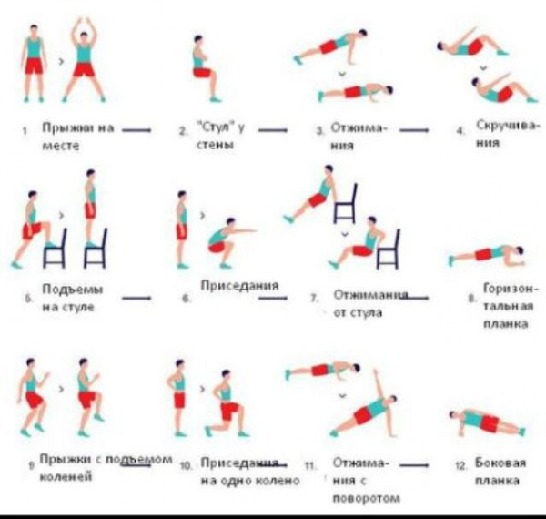 Табата упражнения для похудения фото 47-98