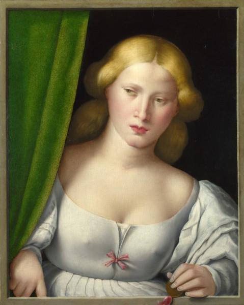 Автор неизвестен Портрет дамы у окна