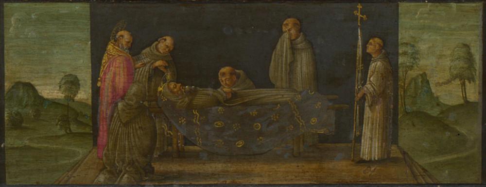 Франческо Боттичини Икона святого Иеронима со святыми и донаторами пределла лондон пределла 3.jpg