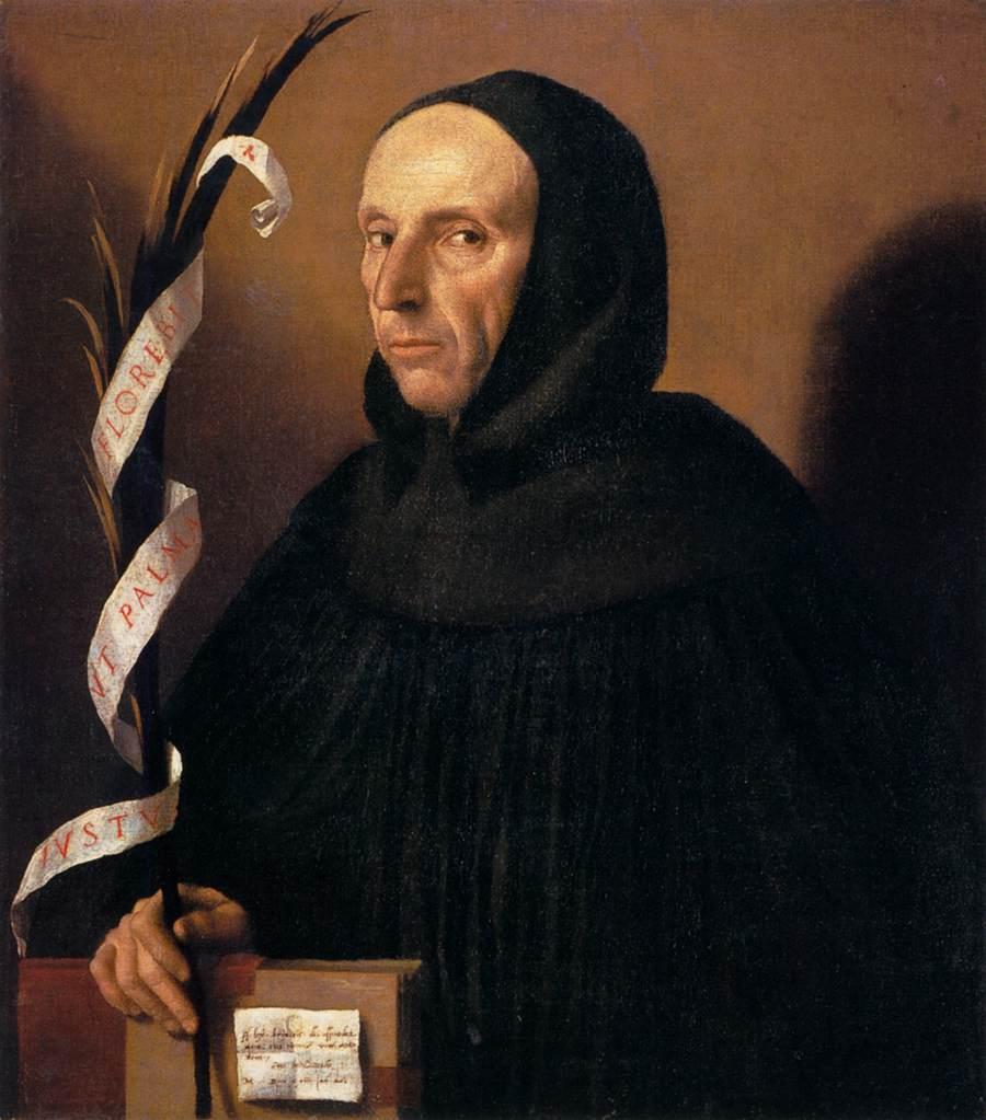 Джиролимо Саванарола. MORETTO da Brescia 1524 Oil on canvas Museo di Castelvecchio, Verona.jpg