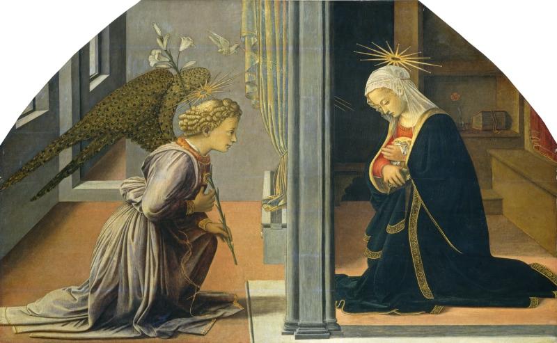Филиппо Липпи старший Благовещение Около 1435 1440. Темпера, панель (Италия, 1406 - 1469).Courtesy National Gallery of Art, Washington..jpg