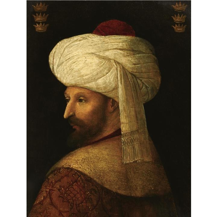 Джентиле Беллини последователь Портрет султана Мехмеда II частное собрание начало 16 века панель, масло.jpg