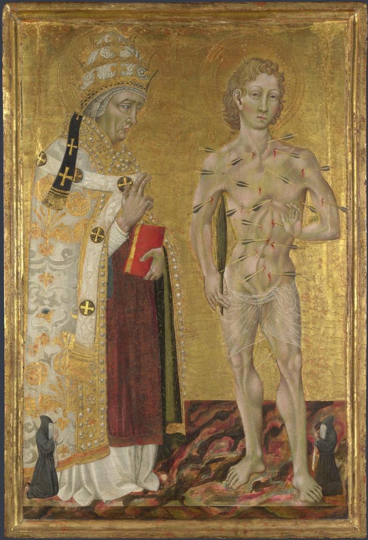 Джованни ди Паоло Святые Фабиан и Себастьян 1475 лондон мал.jpg