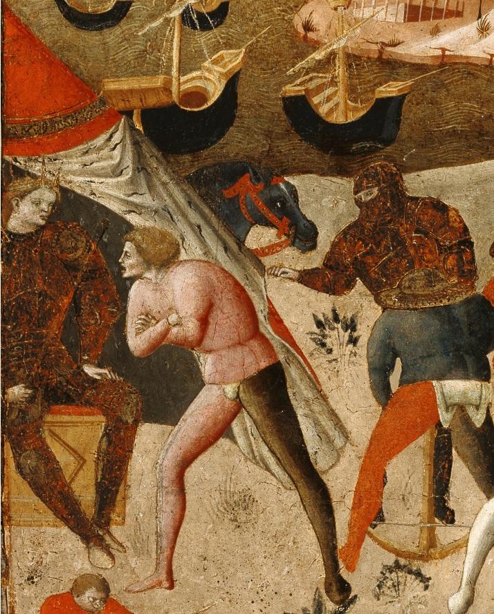 Автор неизвестен Флоренция Сцена битвы (Осада Трои, гибель Патрокла, возможно) Гетти мал.jpg