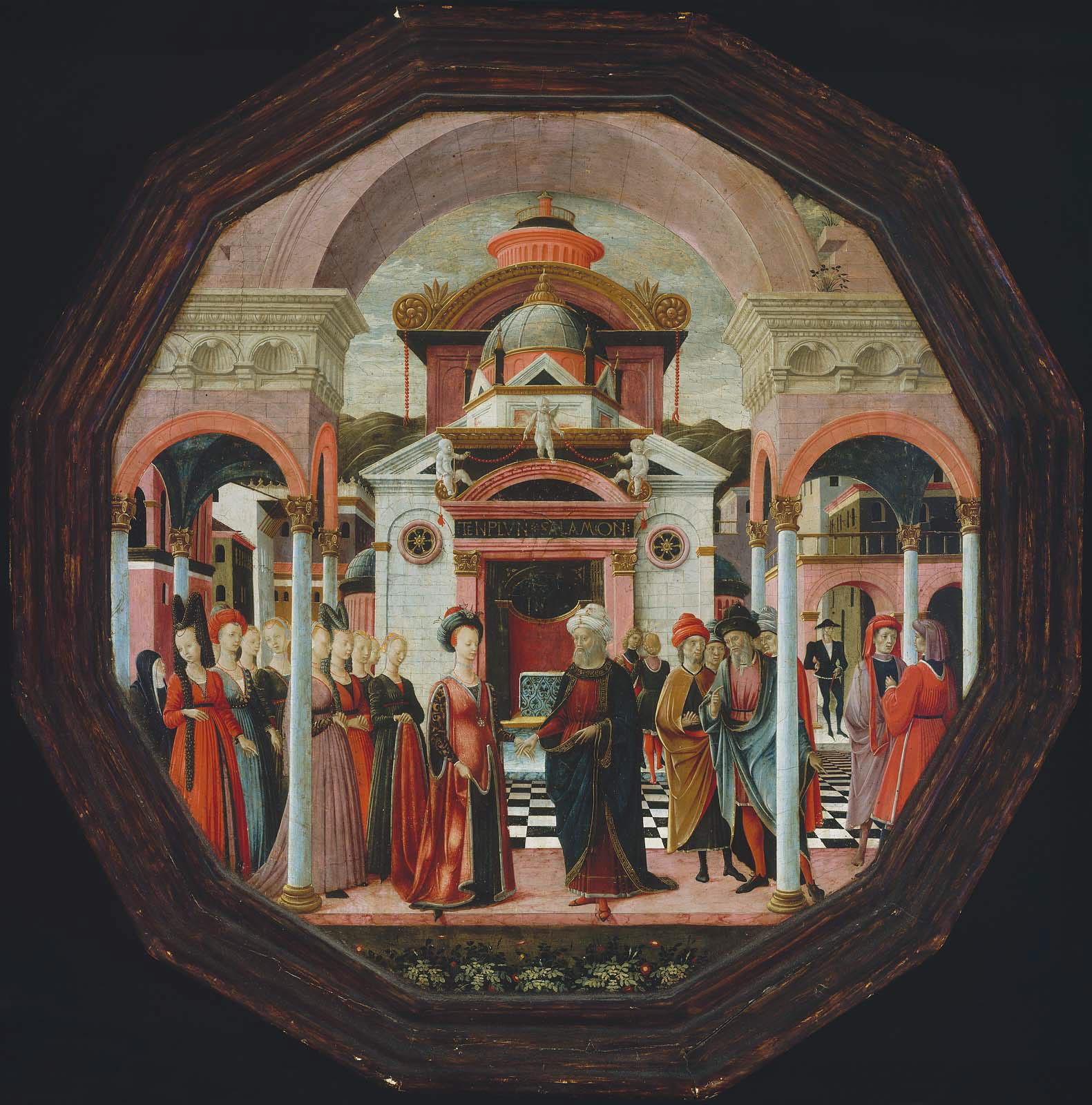 Франческо дель Косса. Соломон и царица Савская, 1476г, Бостон, Музей искусства мал.jpg