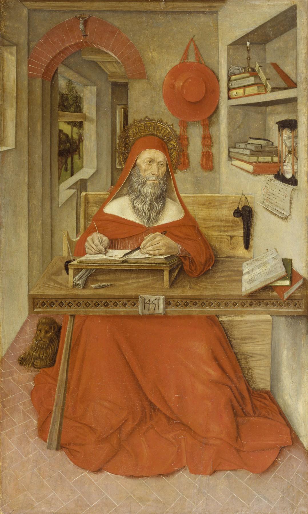 Антонио да Фабриано 2 Святой Иероним за работой филадельфия.jpg
