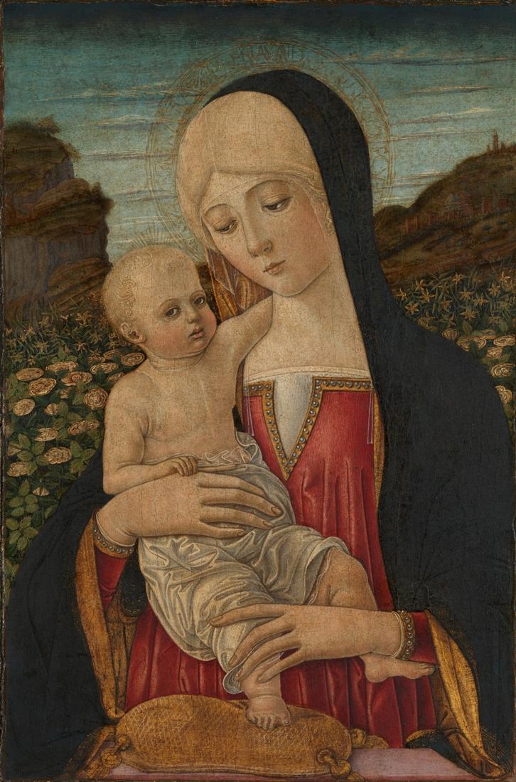 Бенвенуто ди Джованни Мадонна с младенцем лондон яркая мал.jpg