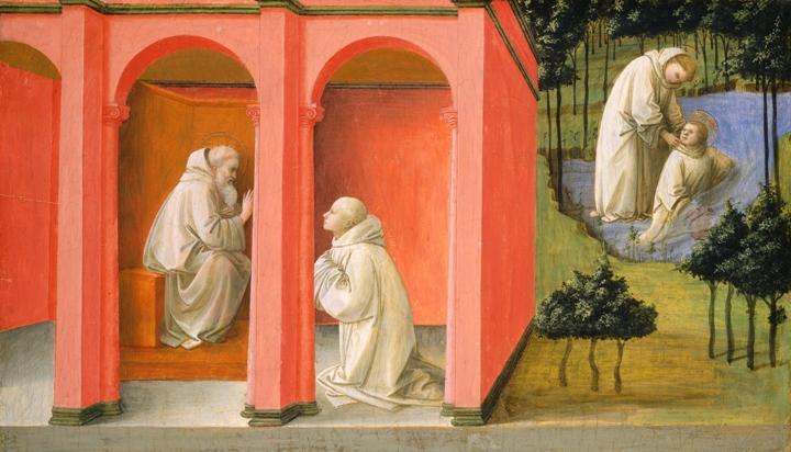 Филиппо Липпи Святой Бенедикт посылает святого Мавра на помощь к святому Плакиду вашингтон мал.jpg