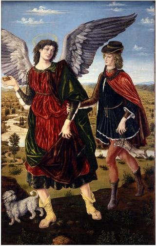 Антонио и Пьетро дель Поллайоло Архангел Рафаил и Товия.jpg