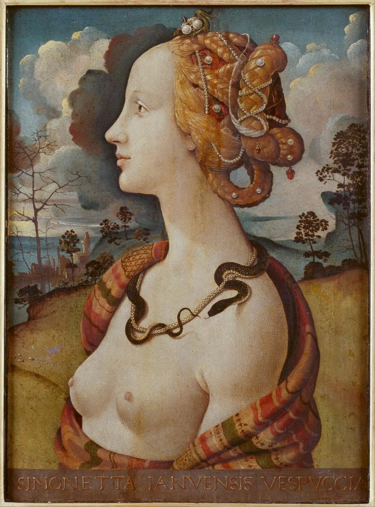 Пьеро ди Козимо Портрет Симонетты Веспуччи в образе Клеопатры конде мал.jpg