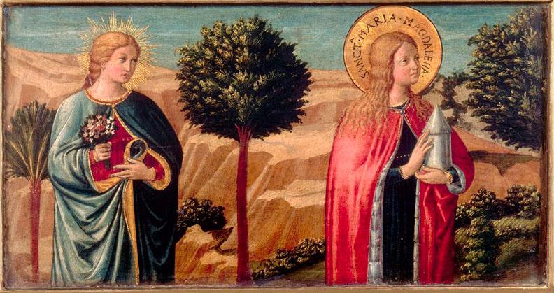 Беноццо Гоццоли Мария Магдалина и блаженная Фина обрез.jpg