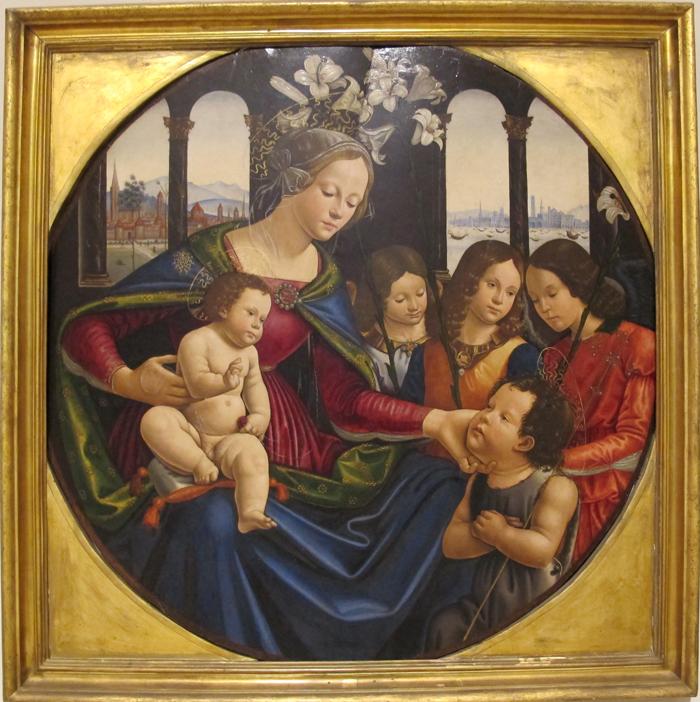 Себастьяно Майнарди Мадонна с младенцем, Иоанном Крестителем и ангелами мал.jpg
