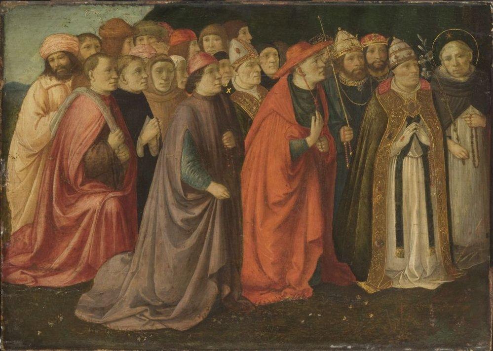 Герардо дель Фора Group of Men with Rosaries филадельфия.jpg