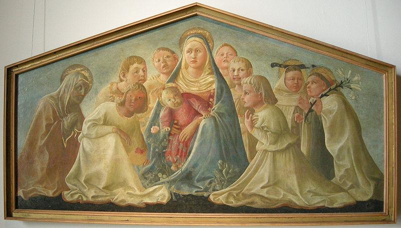 Филиппо Липпи Мадонна с младенцем и святыми проверить.jpg