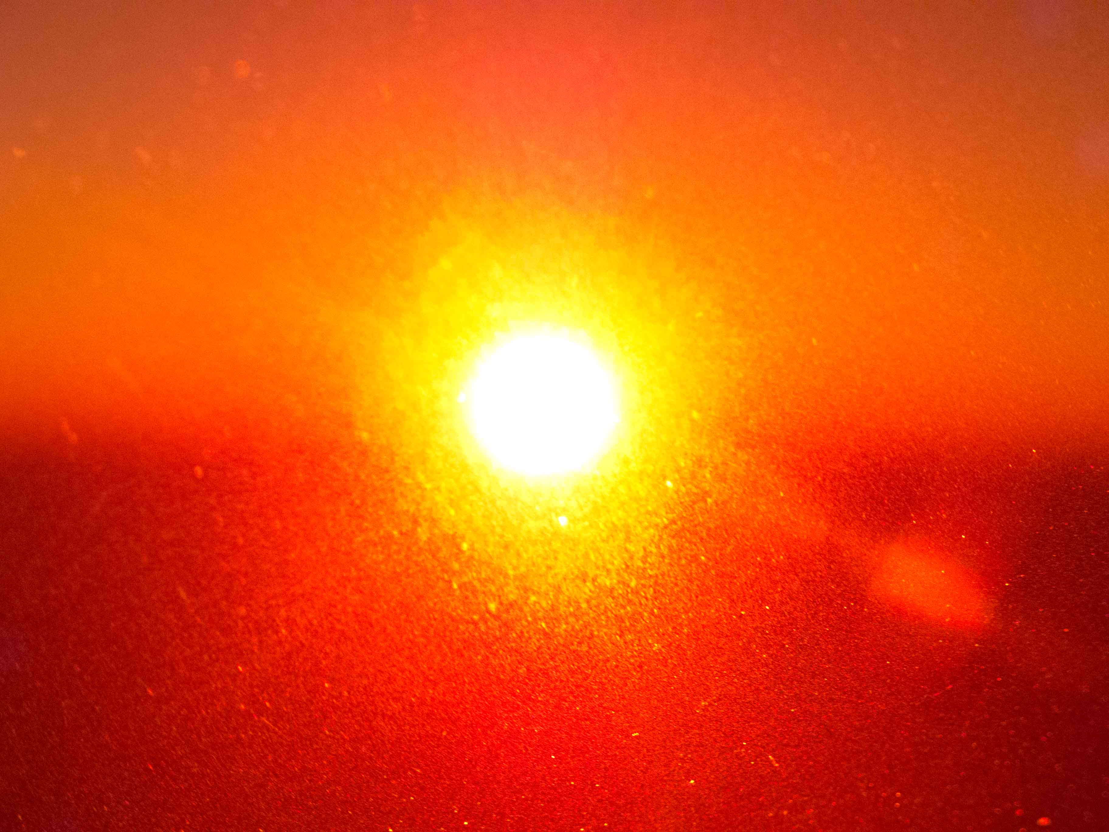 Through sun visor