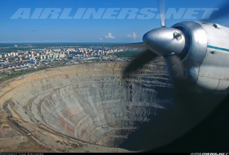 Кимберлитовая алмазная трубка «Мир», Якутия