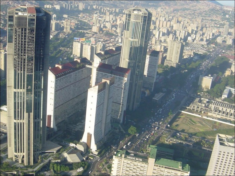 Пожар небоскреба в Каракасе
