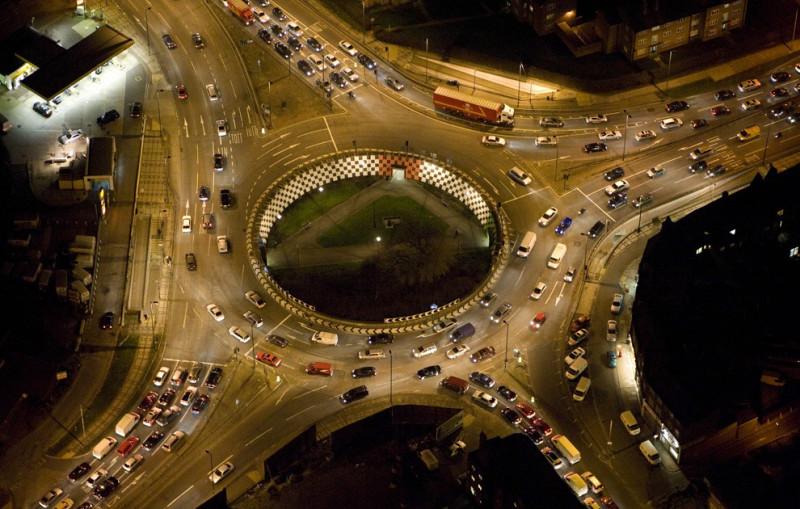 Ночной Лондон с высоты птичьего полёта