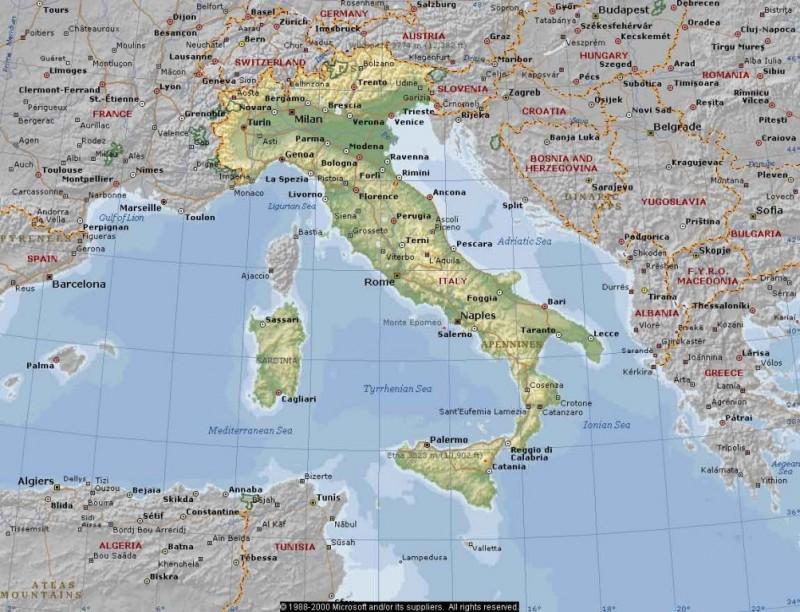 Землетрясение в Сицилии и Калабрии