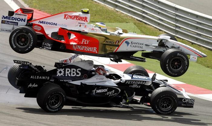 Полет в турецком Гран-При Формулы 1
