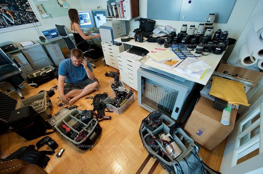 Подготовка фотографа Vincent Laforet к съёмке Олимпийских игр в Пекине