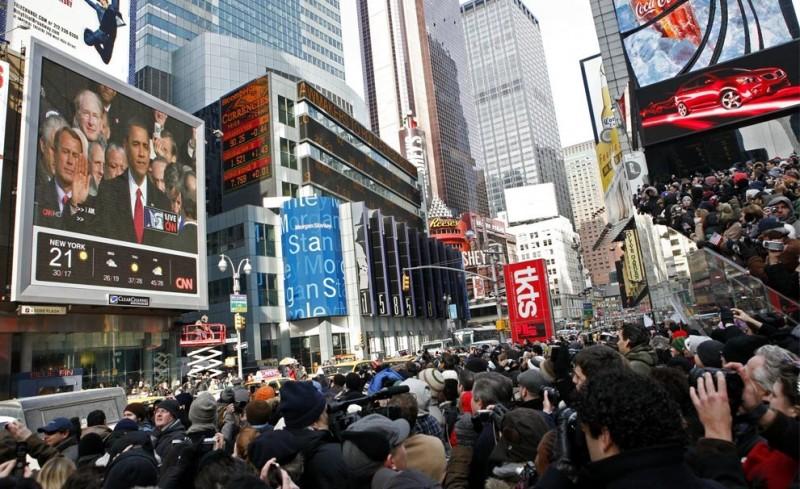 Зрители на Times Square