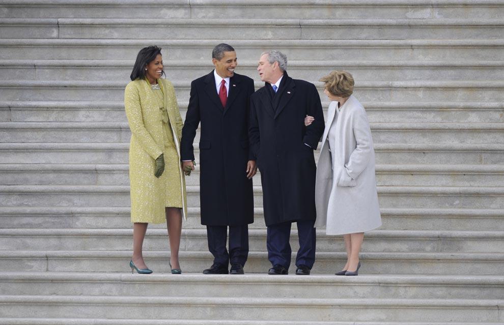 Президент Барак Обама и его жена Мишель