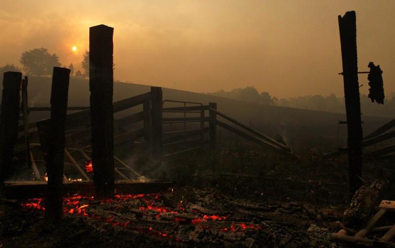 Лесные пожары в Виктория, Австралия