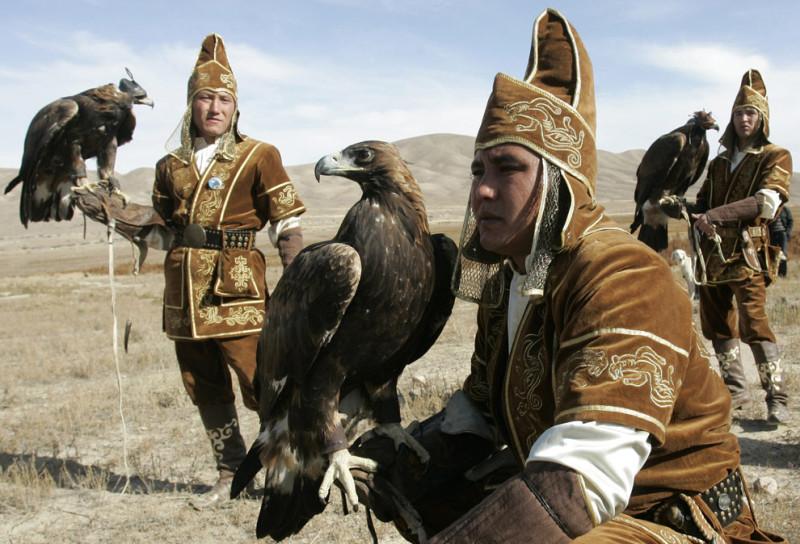 Kazakh hunters