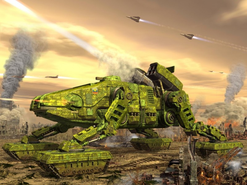 Малый сухопутный линкор Абаж - 1