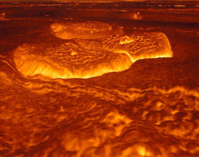 Расплавленная поверхность Венеры