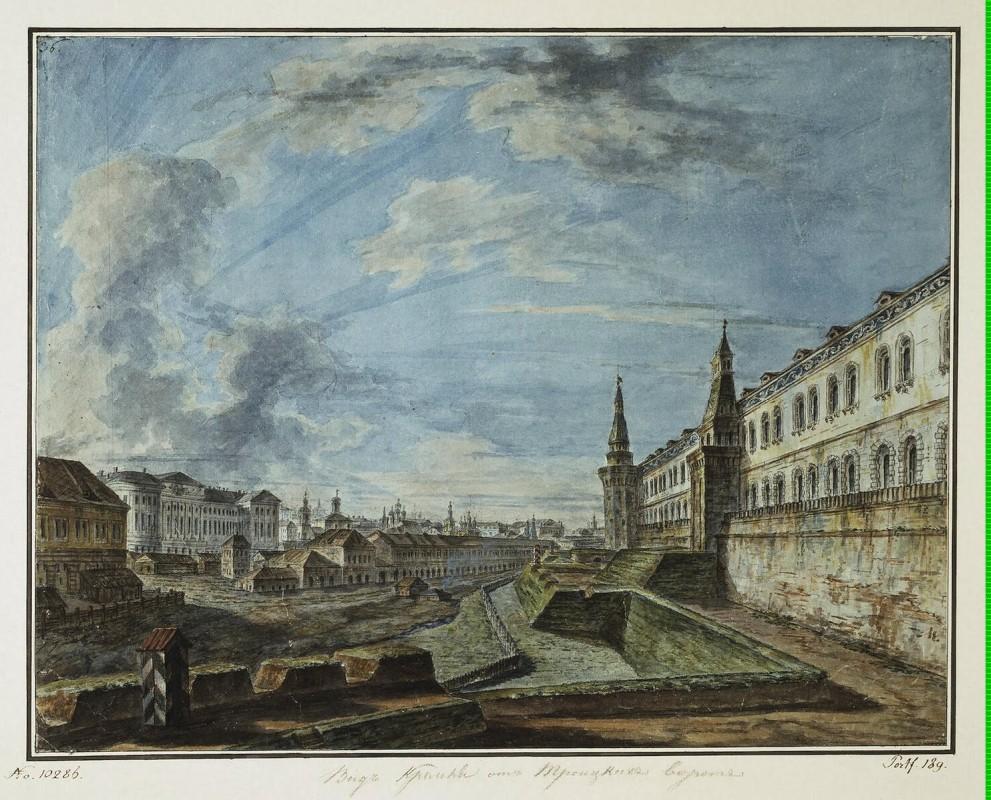 Алексеев, Фёдор Яковлевич / View of Moscow from the Trinity Gates in the Kremlin