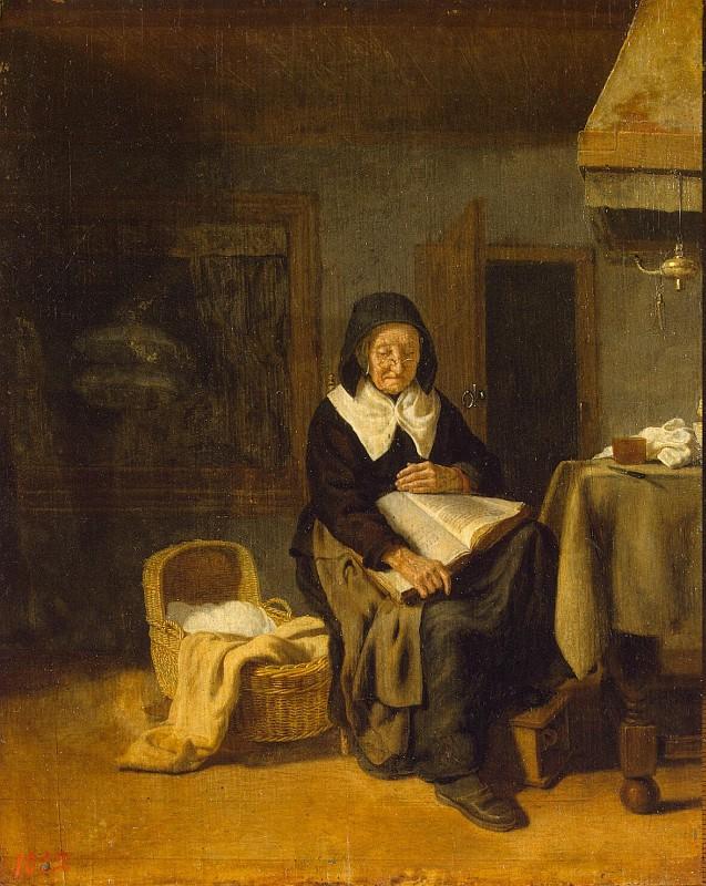 Bos Pieter van den - Old Woman Reading a Book