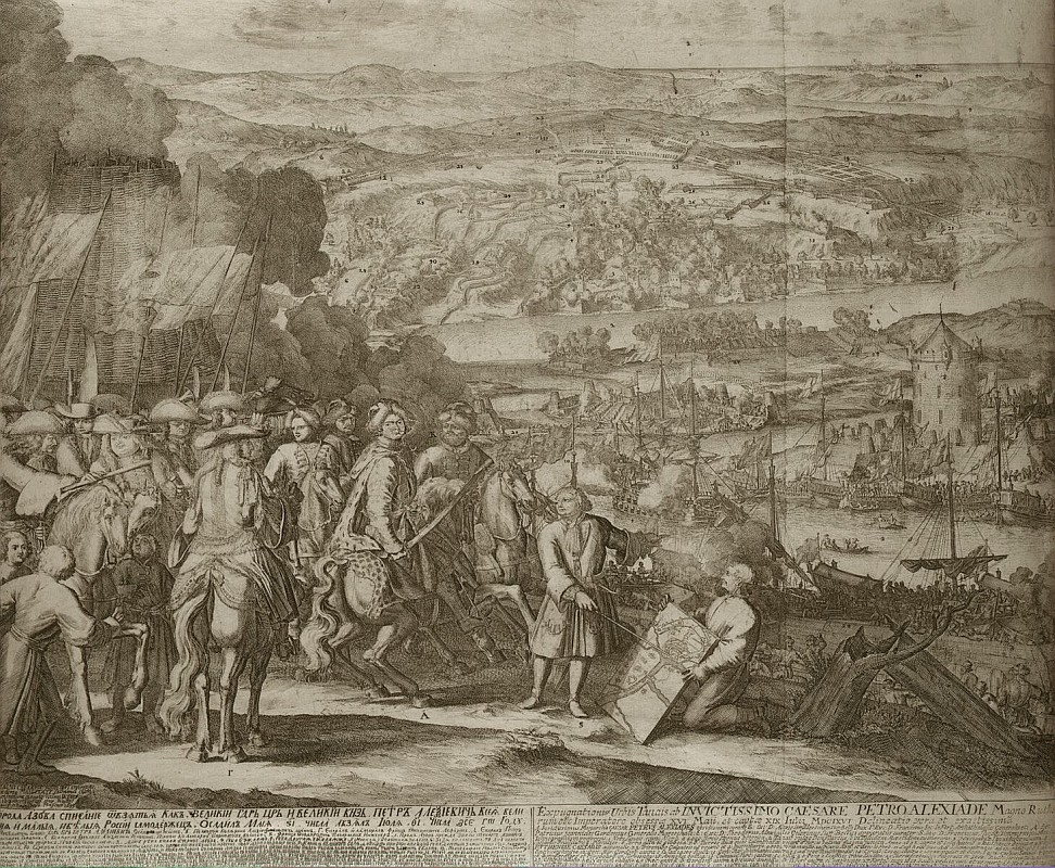 Schoonebeeck Adriaan - Siege of the Turkish Fortress Azov by Russian Forces in 1696