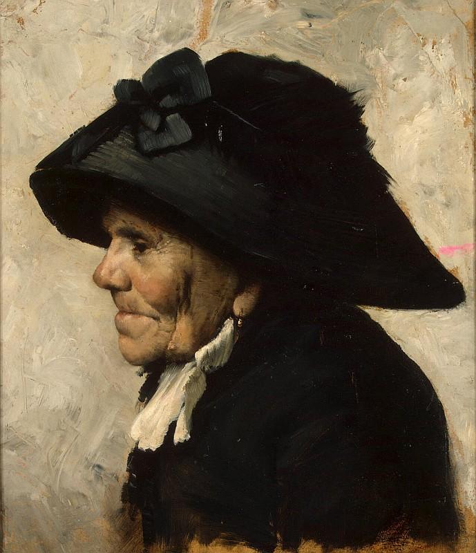 Geoffroy Henri Jules Jean - Study of an Old Womans Head