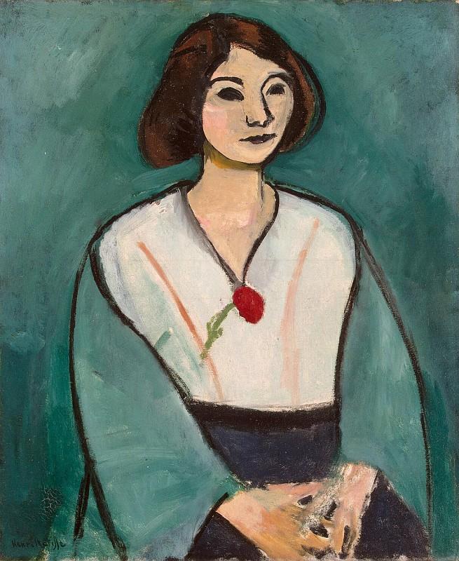 Анри Матисс - Женщина в зеленом