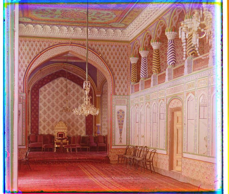 С.М. Прокудин-Горский - Бухарское ханство, г. Бухара. В загородном дворце Эмира Бухарского. 1907 г.