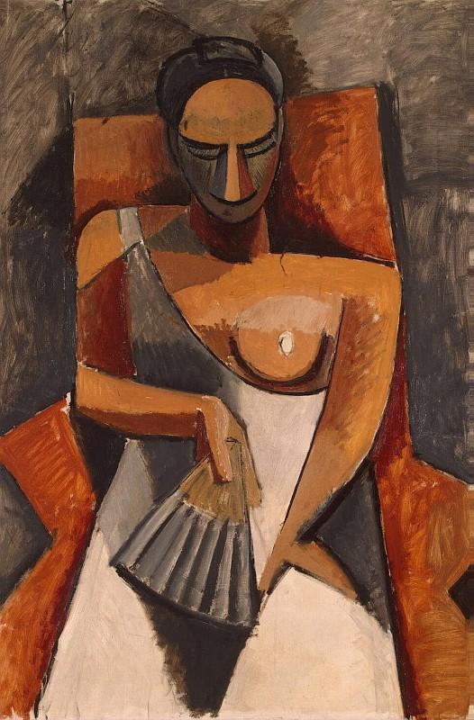 Пикассо Пабло - Женщина с веером
