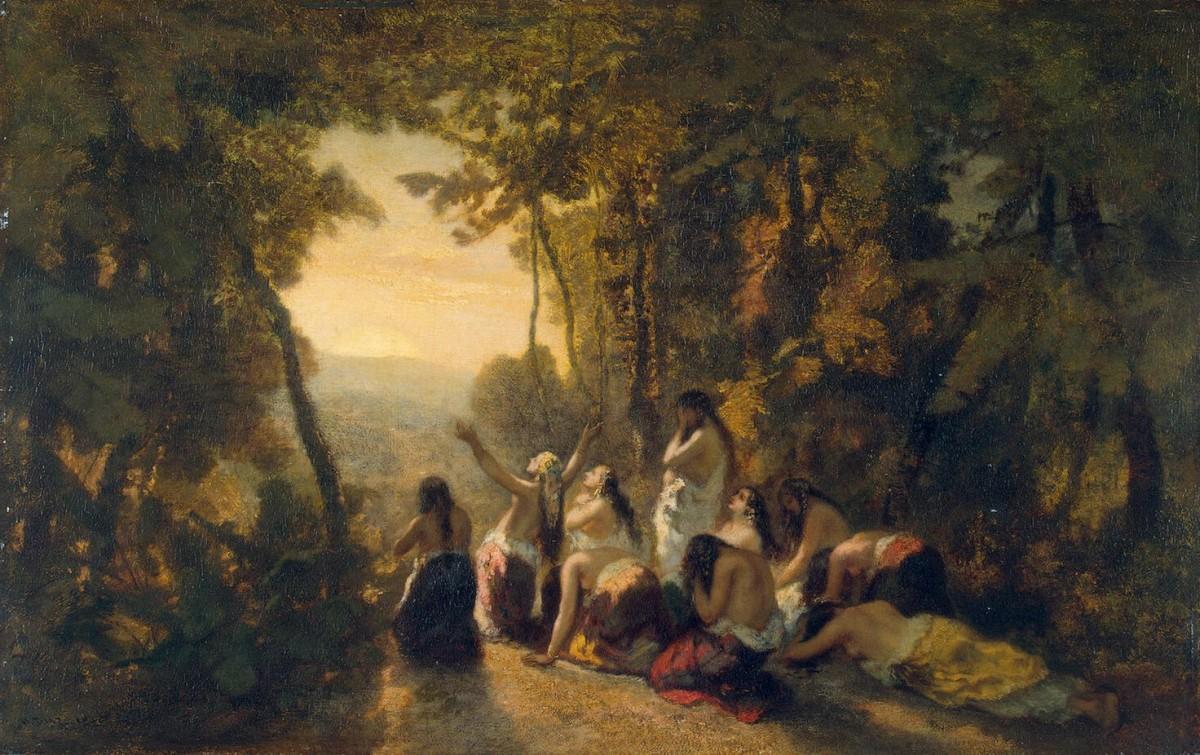 Нарсисо Диас де ла Пенья - Оплакивание дочери Иеффая