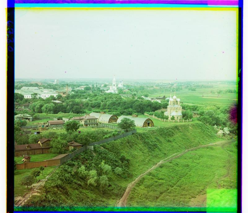 С.М. Прокудин-Горский -  Рязань. Вид на город с юго-востока. 1912 г.