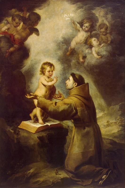 Мурильо, Бартоломе Эстебан - Явление Младенца Иисуса Святому Антонию Падуанскому