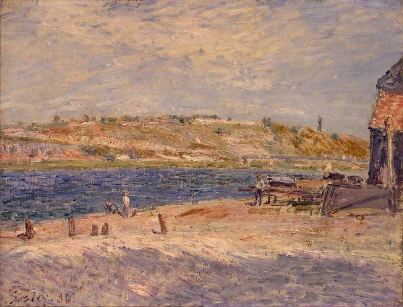 Сислей, Альфред - Речной берег в Сэйнт Мэйммсе