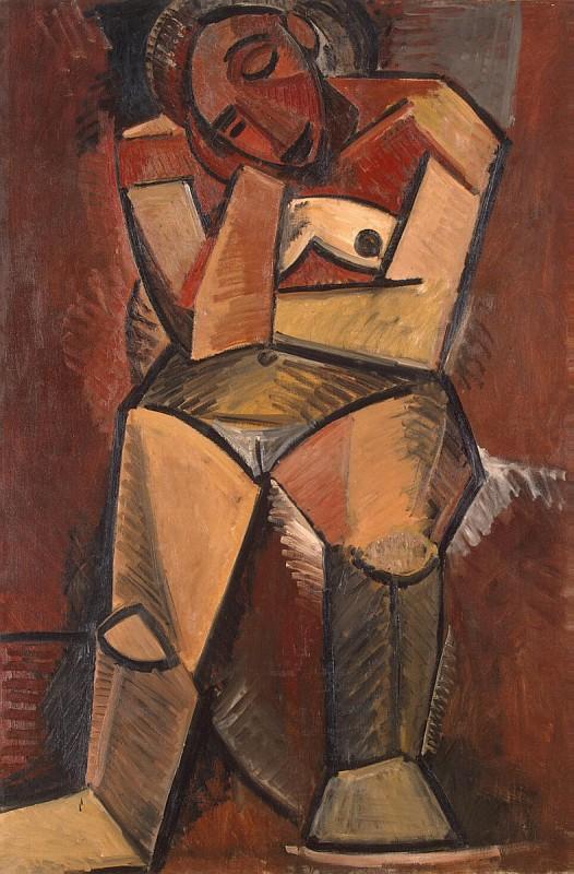 Пабло Пикассо (Pablo Picasso) - Сидящая женщина. 1960 г.