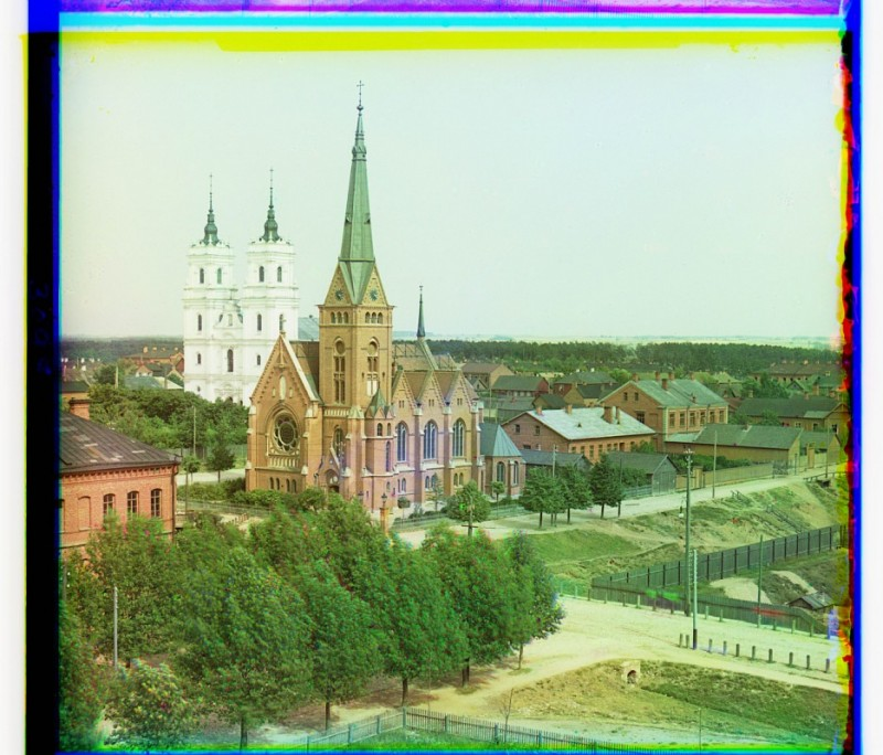С.М. Прокудин-Горский - г. Двинск. Католический костел. 1912 г.
