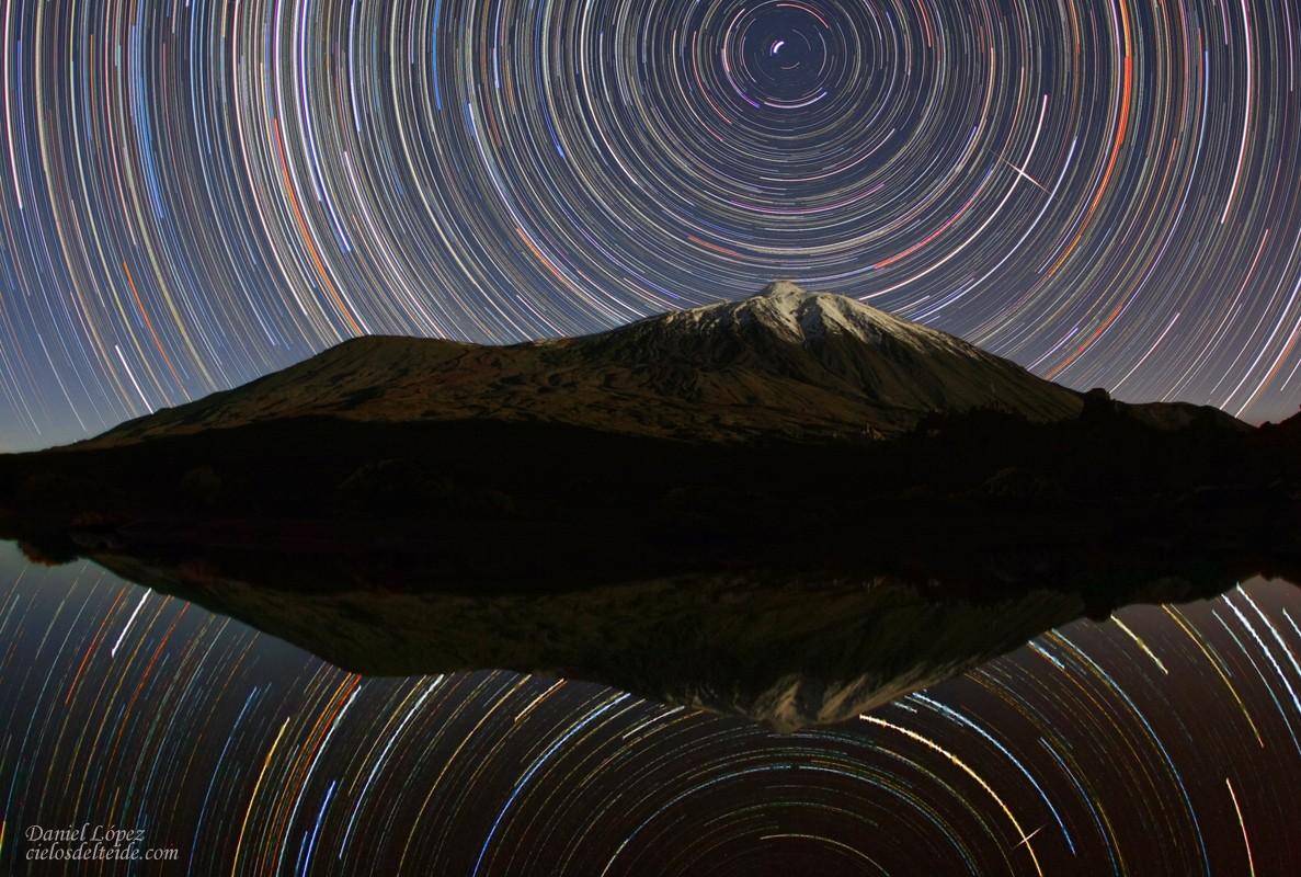 небосвод над Тейде и его отражение