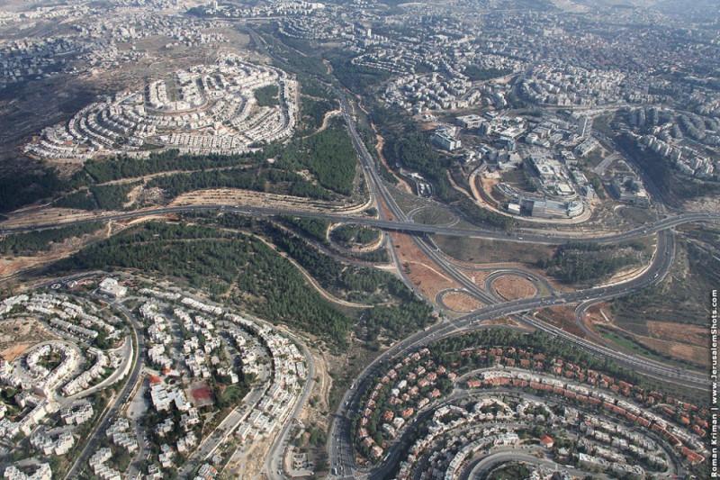 Иерусалим с высоты птичьего полёта
